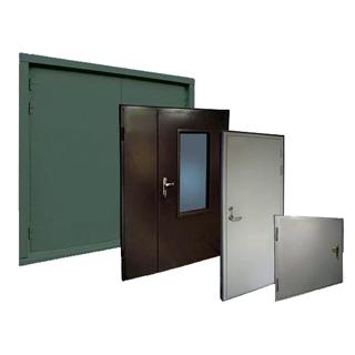 Металлические двери, ворота и люки